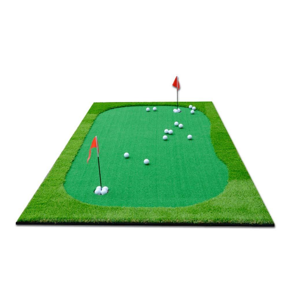 インドアマットゴルフミニアーティフィシア ポータブルゴルフパッティングマットゴルフシミュレーショングリーンパットトレーナーゴルフ人工グリーンパット屋内マットトレーニングエイド練習グリーン サーフェスフラッグアクセサリー (色 : 緑, サイズ : 1.5*3m) 1.5*3m 緑 B07RM1G25Z
