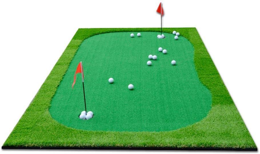 ゴルフ練習用具 ポータブルゴルフパッティングマットゴルフシミュレーショングリーンパットトレーナーゴルフ人工グリーンパット屋内マットトレーニングエイド練習、グリーン (色 : 緑, サイズ : 1.5*3m) 緑 1.5*3m