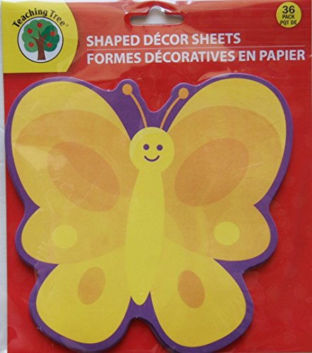 Teaching Tree Paper Shaped Decor Sheets - Cheery Butterfly - 36 Count