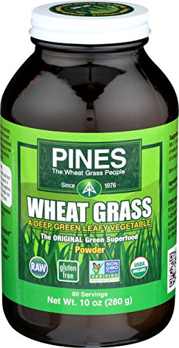Pines Organic Wheat Grass Powder, 10 Ounce (Wheat Pines Grass Powder)