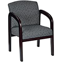 Work Smart Fabric Mahogany Finish Wood Visitor Chair, Ash