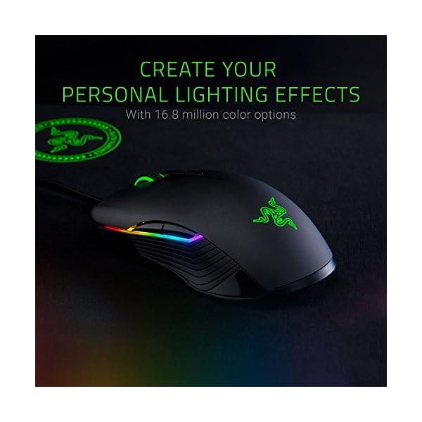 Razer Lancehead Tournament Edition Ambidextrous Gaming Mouse: 16K DPI Optical Sensor - Chroma RGB Lighting - 8…