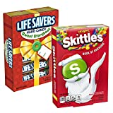 Wrigley Christmas Storybook Bundle of 2 Items - (1) Skittles Book of Awesome, 6.51 Ounce, and (1) Lifesavers 5 Flavors Sweet Storybook, 6.8 Ounces