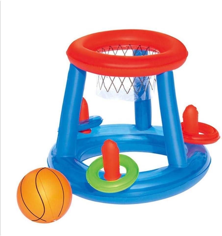 perfecti Portería Hinchable para Agua O Jardin Canasta Hinchable Baloncesto Game Center - Juguete Divertido Buceo Conjuntos De Juegos De Agua, Juguete De Entrenamiento Regalo para Niños