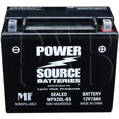 - ETX20L, YTX20HL-BS, YTX20HL, YTX20L-BS, YTX20L, GYZ20HL, 4011496, PTX20L-BS, PTX20HL-BS, ES20LBS Replacement Battery 375cca High Performance WPX20L-BS Sealed AGM for Motorcycle, ATV, Jet Ski, Snowmobile, Side x Side, Honda, Yamaha, Kawasaki, Ski-Doo, Pure Polaris, Can-Am, BRP