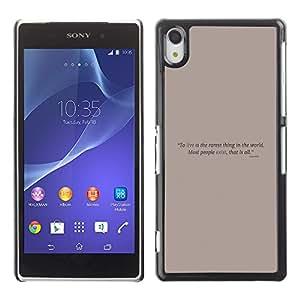 EJOY---Cubierta de la caja de protección la piel dura para el / Sony Xperia Z2 / --Cartel de motivación