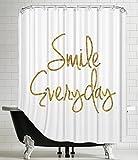 American Flat Smile Everyday Shower Curtain by Brett Wilson, 71'' x 74''