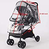 SYOOY Universal Baby Stroller Weather Shield Baby Rain Cover for Rain Snow Wind Fog Dust Transparent