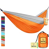 Cool things about our hammocks: *VERY COMFORTABLE and extra soft (as soft as ENO - and yes we checked) *SUPER STRONG parachute nylon fabric (210T Nylon - same material skydivers use!). *EXTRA SAFE because it has triple interlocking stitching so yo...