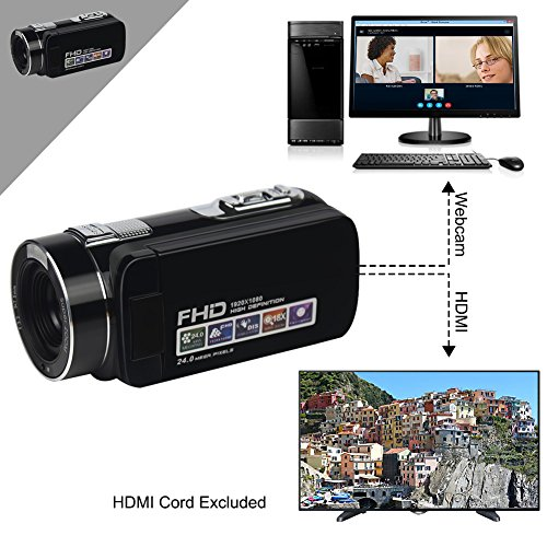 "Camcorder Video Camera Full HD 1080P 24.0MP Digital Camera 18x Digital Zoom 2.7"" LCD with Wide Angle Close-up Lens Camcorder Video Camera Full HD 1080P 24.0MP Digital Camera 18x Digital Zoom 2.7″ LCD with Wide Angle Close-up Lens 51ThgqRakvL"