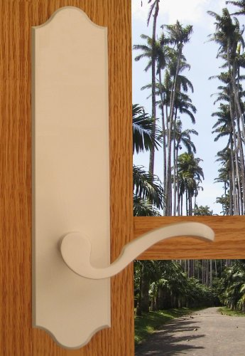 Royal Solid Brass Lever Set and Back Plates in Oil Rubbed Bronze, Full Dummy (Interior Classic Lever Full Dummy)