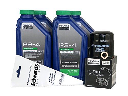 2012 POLARIS RANGER RZR XP 900 POLARIS OIL CHANGE KIT (Best Oil For Polaris Rzr 900 Xp)