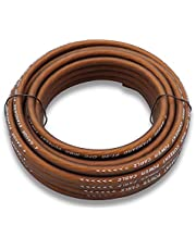 Welugnal 4 Gauge 26ft Brown Power/Ground Wire True Spec and Soft Touch Cable for Car Amplifier Automotive Trailer Harness Wiring