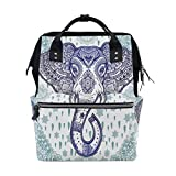 WOZO Retro Bohemian Elephant Paisley Flower Multi-function Diaper Bags Backpack Travel Bag