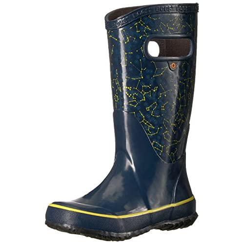 10 M US Toddler Kaleidoscope Print//Black//Multi Bogs Kids Rubber Waterproof Rain Boot Boys Girls