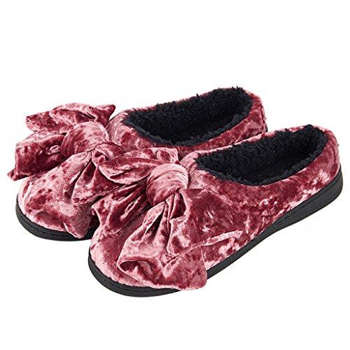 Zapatillas DWW casa de invierno interior simple cálidos antideslizantes zapatos de algodón a prueba de agua femenino Pattern 4