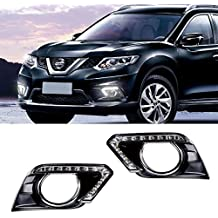iJDMTOY OEM Fit Amber/White Switchback 12-LED Daytime Running Lights w/ Turn Signal Feature For 2014-up Nissan Rogue (X-Trail)