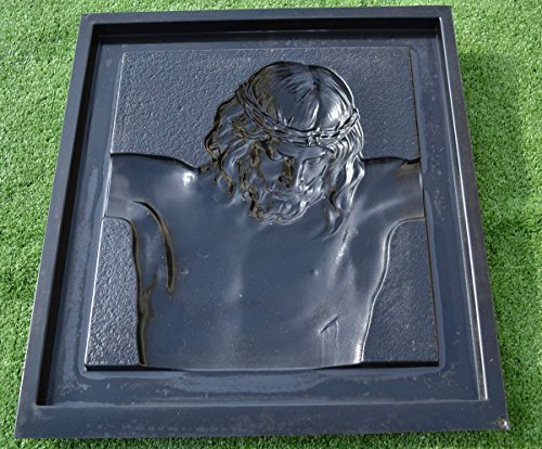 Mold Impressive and Large  Wall Plaque of a Suffering Christ Jesus D16