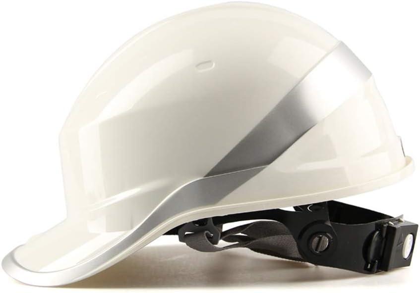 WYNZYSLBD Gorra De Seguridad para La Construcción, Casco Ajustable, Casco De Construcción con Cinta Reflectante, Construcción, Mejoras para El Hogar Y Equipo De Protección Personal (Color : White): Amazon.es: Hogar