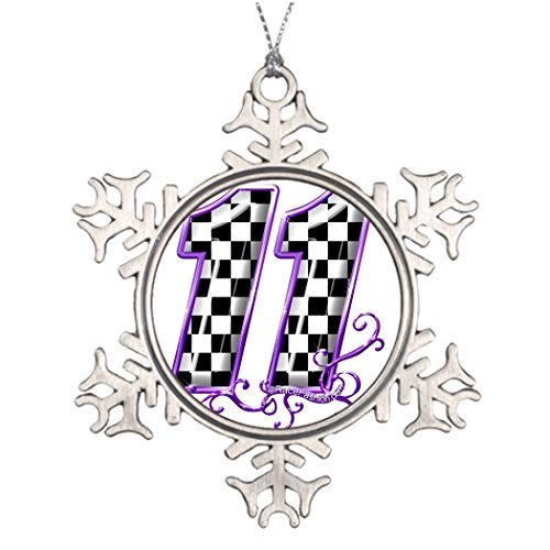 Athena Bacon Personalised Ornament Tree Decorated 11 Gold Purple.png Personalized Christmas Snowflake Ornaments Tree Decor (Gold Ornament Christmas Png)