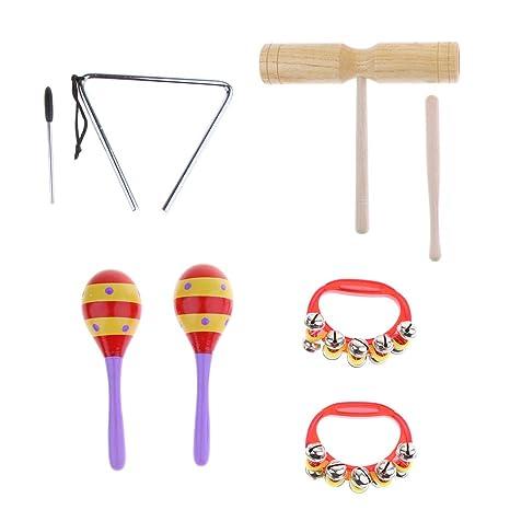 Homyl Los Instrumentos Musicales Para Niños Establecen 4 Accesorios de Costura Manualidad Decoración