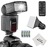 Neewer® TT560 Speedlite Flash Kit for Canon Nikon Olympus Fujifilm and any Digital Camera with a Standard Hot Shoe Mount, Includes: (1)TT560 Flash + (1)Universal Portable Softbox Flash Diffuser + (1)Universal 5-in-1 Multi Function Remote Control (for Nikon D3200 D3100 D3000 D3300 D5000 D5100 D5200 D5300 D7000 D7100 D200 D300 D600 D610 D700 D750 D800, Canon T3i T4i T5i SL1 60D 70D 5D 6D 7D, Sony A230 A33O A450 A500 A550 A700 A900) + (4)Batteries + (1)Microfiber Cleaning Cloth