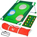 GoSports BattleChip Backyard Golf Cornhole Game | Fun New Golf Game for All Ages & Abilities