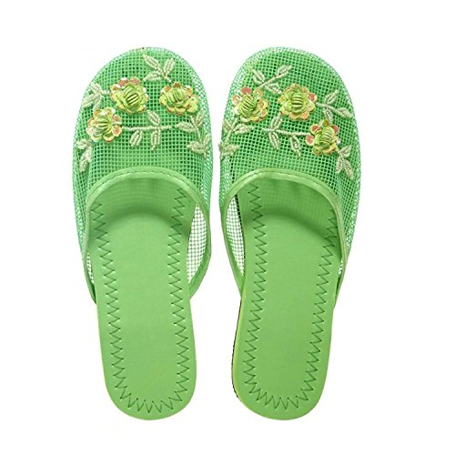 Available Slippers Colors Sequin in 15 Green Women's Mesh with wIHPpa