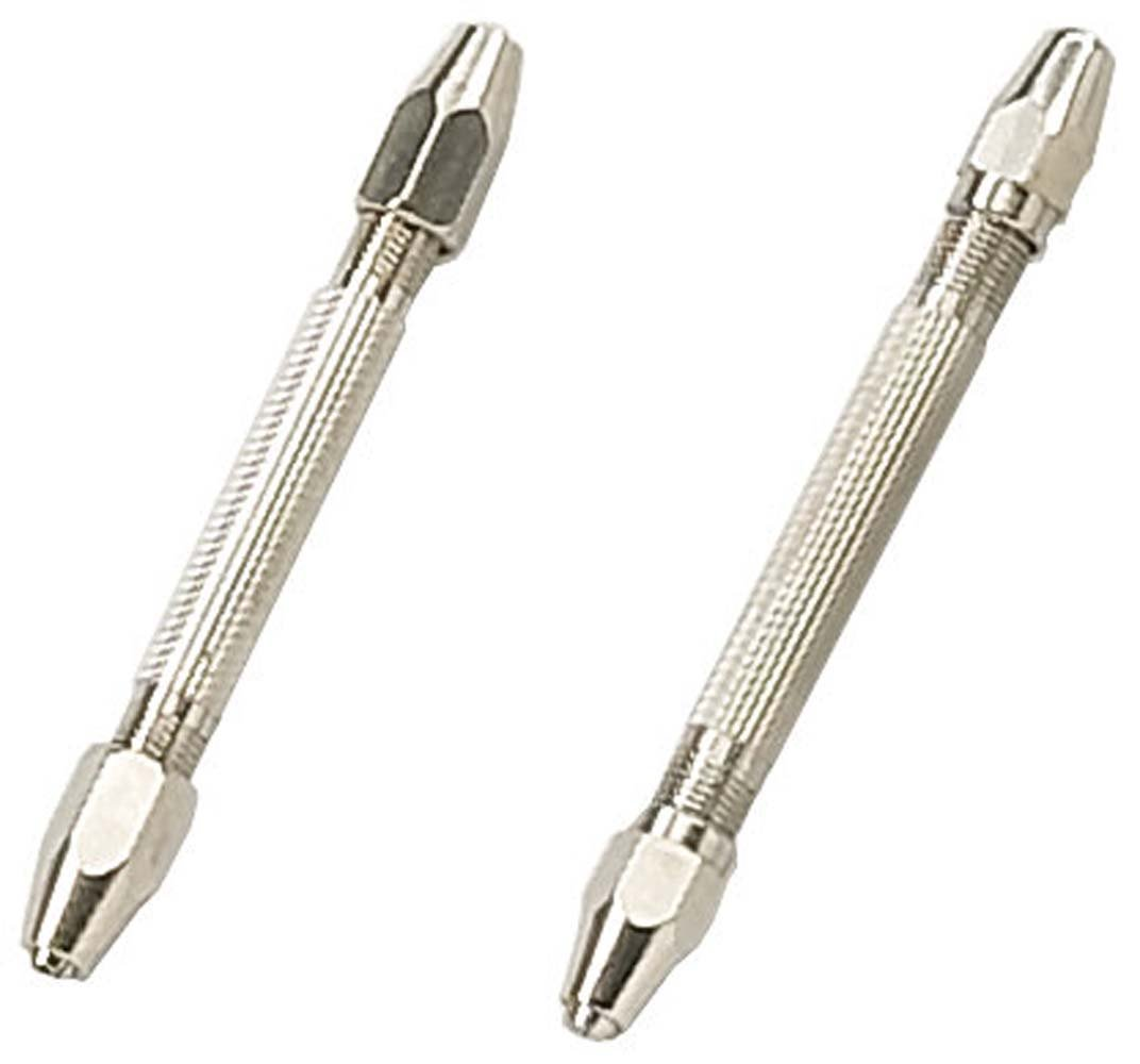 2 Piece Set Of Double Sided Pin Vises- 1-4mm- 8 Collets by ToolUSA (Image #1)