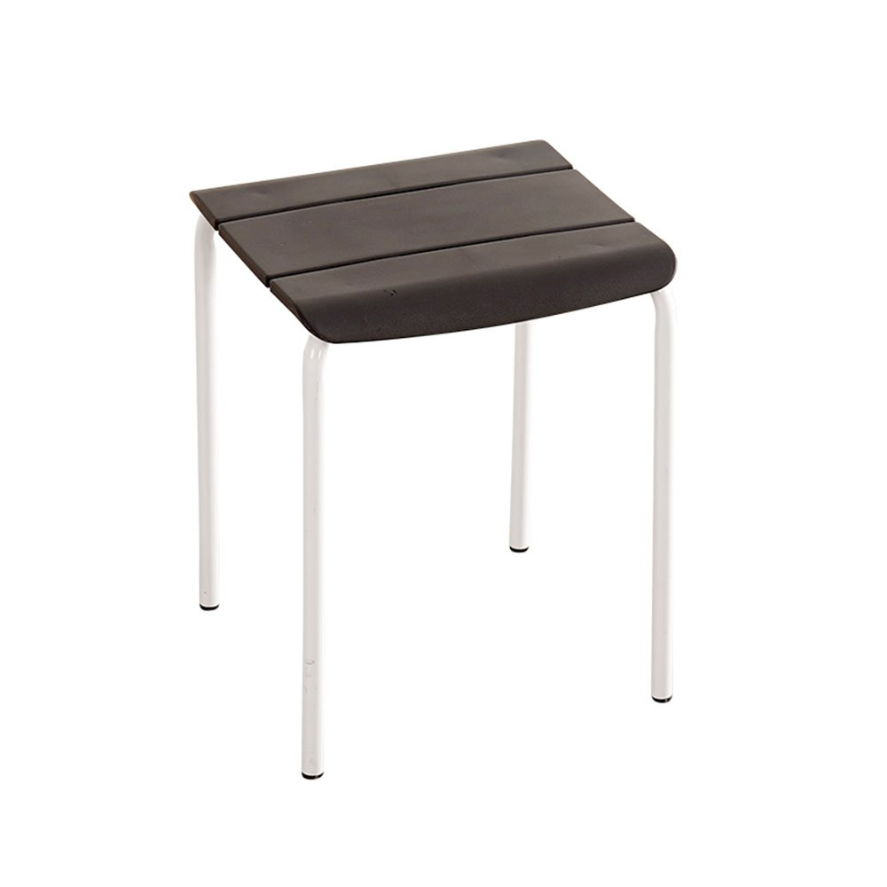Plastic Square Stool/Fashion Creative Table Stool/Home high Stool/Simple Small Chair/Living Room Bench (Color : Black) by Xin-stool