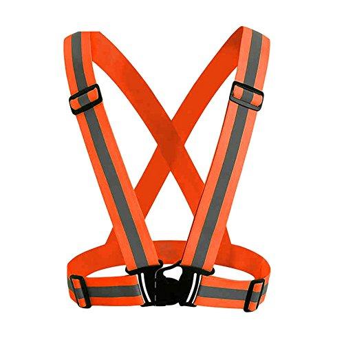 En Ou Vélo Gilet Orange Réfléchissant Haute Sécurité D'exécution Travail De Jogging Moto Toute Aituo Visibilité Cours Restez qpgv0O