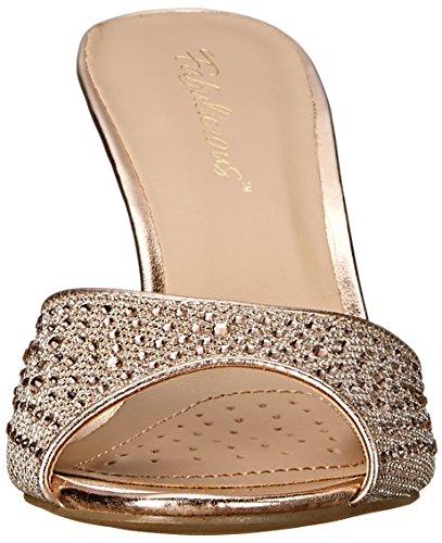 Glitter Oro Donna con Gold da 01 Pleaser Fabric Scarpe Lucy Tacco Mesh qwztF0Z