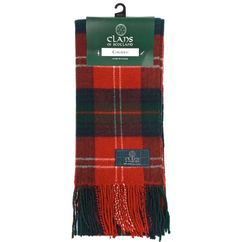 Clans Of Scotland Pure New Wool Scottish Tartan Scarf Chisholm (One (Mens Pure Wool)