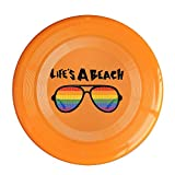 AOLM Life's A Beach Outdoor Game Frisbee Ultra Star Orange