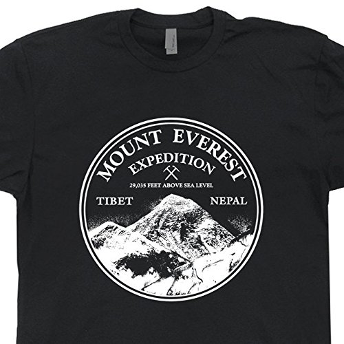 XL - Mount Everest Expedition T Shirt Vintage Tee Mountain Rock Climbing The Mountains Are Calling Mens Womens Sports Shirtmandude T Shirts