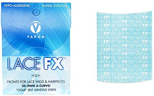 Vapon Lace FX Mini A-Curve, Fronts for Lace Wigs & Hairpieces- Clear Self Adhesive -