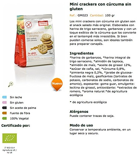 Germinal Mini Crackers con Cúrcuma - 100 gr: Amazon.es: Alimentación y bebidas