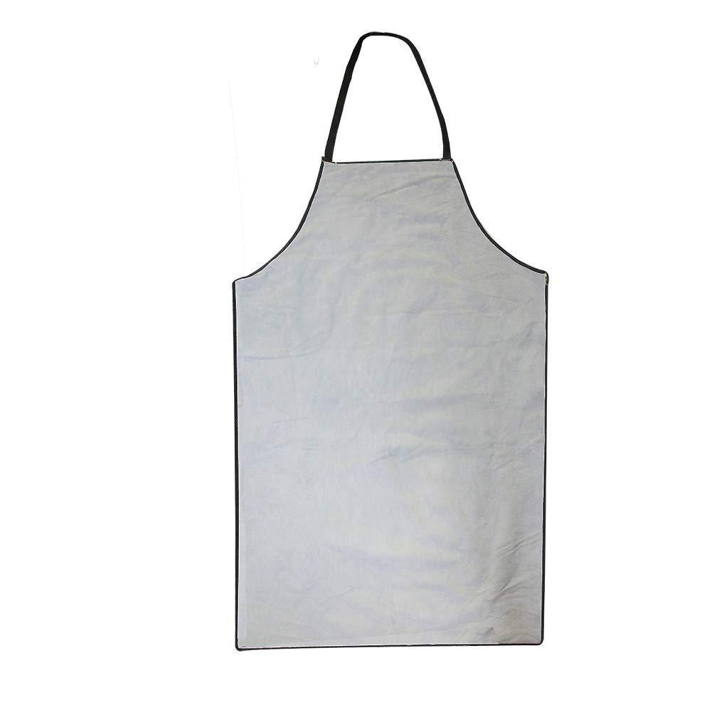 QEES - Delantal de soldadura de cuero, retardante de llama y calor, con bolsillo macho y hembra, para mejorar el hogar, trabajo pesado DHWQ05: Amazon.es: ...