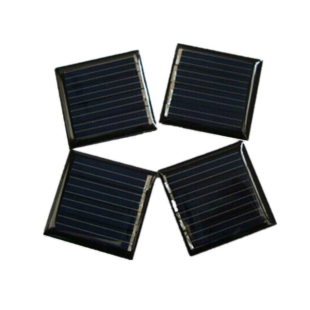 20Pcs 2V 45mah 0.09W 30x30mm Micro Mini Power Small Solar Cell Panel Module DIY Solar Light Phone Charger Toy Flashlight Power Bank (20)