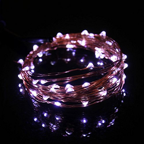 - Rumas Fashion 5M 50 Led USB connector String Fairy Lights Garland Copper Wire (White)