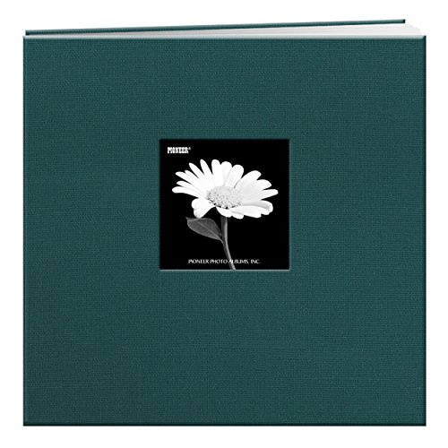 Pioneer 12-Inch by 12-Inch Fabric Frame Scrapbook, Majestic Teal 12x12 Fabric Scrapbook Album