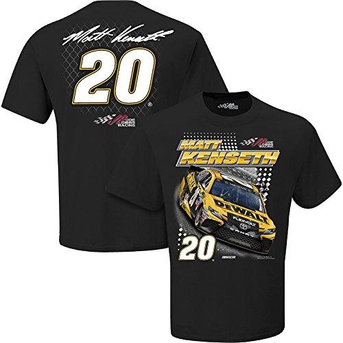 Nascar Mens Spoiler 2 Spot Driver Sponsor T Shirt Matt Kenseth  20 Dewalt Black Large