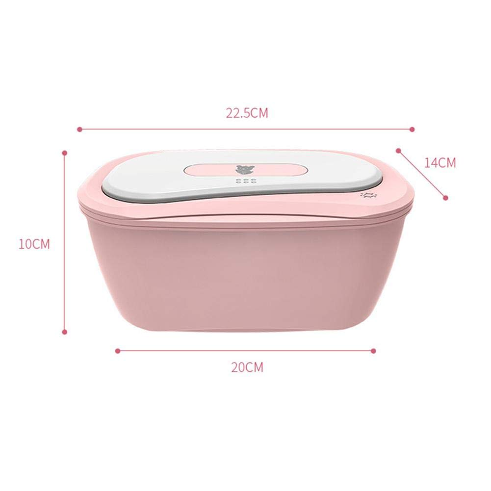 Adminitto88 Baby Wipes Heater Case Baby Wet Wipes Dispenser Diaper Thermostat Toddler Nursing Warm Wipes Low Energy Consumption Heating Box Insulation Moisturizer Supply Portable Charging Wipes Box