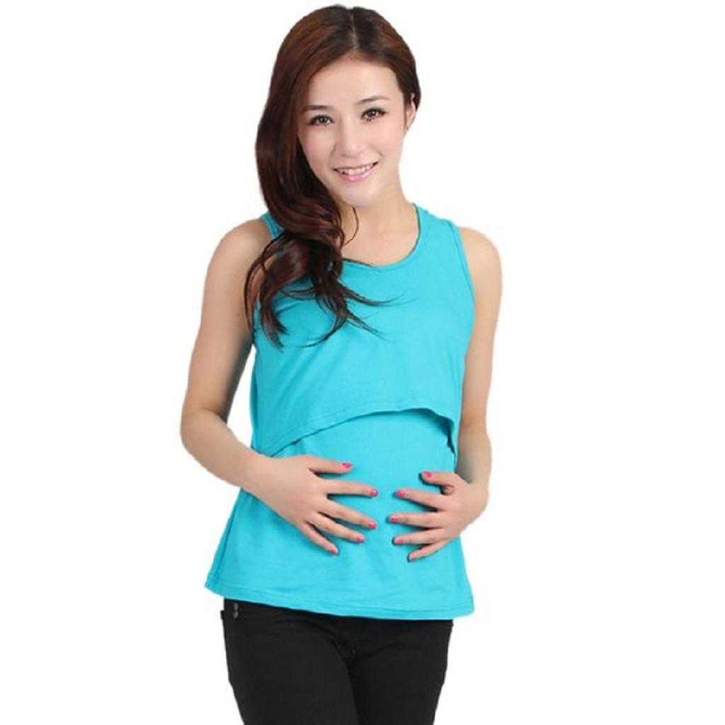 Ineternet Enceinte Vêtements de Maternité Nursing Tops T-shirt Allaitement Vest Internet 8810
