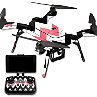 MightySkins Protective Vinyl Skin Decal for 3DR Solo Drone Quadcopter wrap cover sticker skins Black Pink Chevron