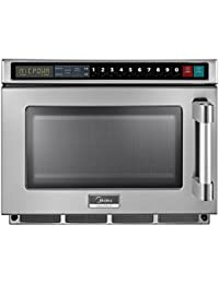 Midea 2117G1A Heavy Duty Commercial Microwave 2100W with Keypad Controls (17 Liter / 0.6 Cubic Feet Capacity)