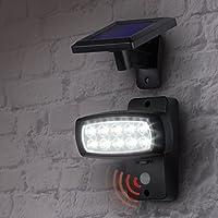 LED Solare Faretto esterno-lampada//rilevatore di movimento BATTERIA LIVARNO LUX