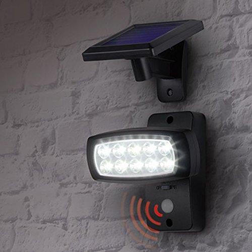 Livarno® - Focos led solares con sensor de movimiento: Amazon.es: Bricolaje y herramientas