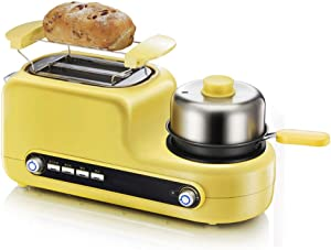 2 in 1 Multifunction Toaster Fried Egg Cooker, Stainless Steel Toaster, Bake/Fry/Roast/Bake/Steam, Suitable for Bread Muffins