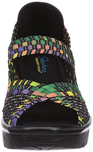 Skechers Parallel, Sandalias abiertas de material sintético, Mujer Multicolor (MLT)